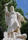 Prophet elijah statue a of at the mukhraka israel Royalty Free Stock Photography