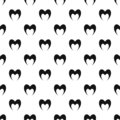 Prophetic heart pattern seamless vector Royalty Free Stock Photo