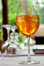 Prosecco aperol on ice Royalty Free Stock Photo