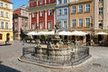 Proserpina s fountain old market square poznan poland august at the city center stary rynek Royalty Free Stock Photos