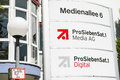 Prosiebensat media ag in unterföhring sign infront of the offices Stock Image