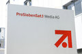 Prosiebensat media ag in unterföhring sign infront of the offices Royalty Free Stock Photo