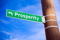 Prosperity Road Sign Royalty Free Stock Photography