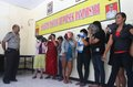 Prostitute women who got caught in police operation in solo central java indonesia Stock Image