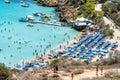 PROTARAS, CYPRUS - view of Konnos Beach Royalty Free Stock Photo