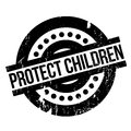 Protect Children rubber stamp