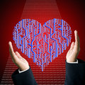 Protect the circuit board in heart shape Royalty Free Stock Photo