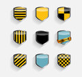 Protect shield set vector illustration this is file of eps format Royalty Free Stock Images