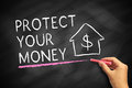 Protect your money Royalty Free Stock Photo