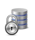 Protected database Royalty Free Stock Image