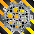 Protected fan with steel cog Stock Photo