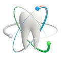 Protected tooth - realistic 3d vector icon