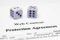 Protection agreement Stock Image