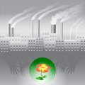 Protection of the ecology from factory Royalty Free Stock Image