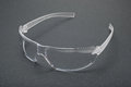 Protection glasses on gray background Stock Photo