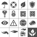 Protection icons simplus series vector illustration Stock Images