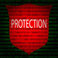 Protection illustration of protecting information as a symbol of internet security Stock Image