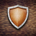 Protection shield Stock Image
