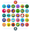 Protection, sport, art and other web icon in flat style. business, medicine, nature, icons in set collection.