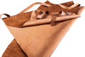 Protective brown apron leather for welding Stock Image