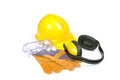 Protective equipment, safety gear Royalty Free Stock Image