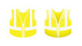 Protective fluorescent yellow vest Royalty Free Stock Images