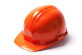 Protective hardhat stock image of a new isolated on white background Stock Image