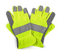 Protective work gloves isolated on white Royalty Free Stock Photo