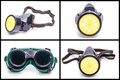 Protective workwear glasses and dust mask see my other works in portfolio Royalty Free Stock Photo