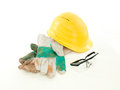 Protective workwear on white background Stock Photography
