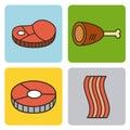 Protein food illustration