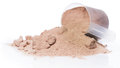 Protein powder and scoop Royalty Free Stock Photo