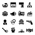 Protest icon set
