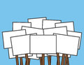 Protest Signs Blank Royalty Free Stock Photo