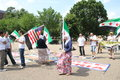 Protest the syrian diaspora against russia s support of assad s regime washington dc usa may Royalty Free Stock Photos