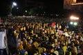 Protesta Bangkok - casa de la PISTA del gobierno Imágenes de archivo libres de regalías