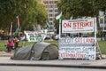 Protesta del campo di concentramento Immagine Stock