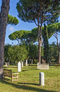 Protestant cemetery rome the non catholic is a in located near porta san paolo Royalty Free Stock Photos