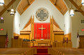 Protestant church chancel Stock Photo