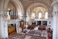Protestant church interior of in cluj napoca romania Stock Photography