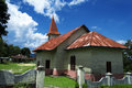Protestant church lumban lintong samosir island ressort onan runggu lake toba north sumatra indonesia Royalty Free Stock Image