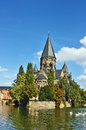 Protestant church in metz city france Royalty Free Stock Photo