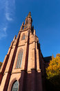 Protestant church of offenburg in baden wurttemberg germany upwards view Royalty Free Stock Photos