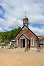 Protestant church old in wild west town Royalty Free Stock Photography