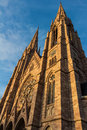 The protestant reformed church of strasbourg saint paul alsace france Stock Images