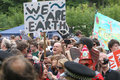 Protestations de balcombe fracking Photographie stock libre de droits