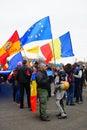 Protesters in Bucharest, Romania