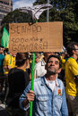 Protests against brazilian president sao paulo brazil august people on paulista avenue protesting corruption and presidente dilma Stock Photos