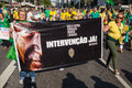Protests against brazilian president sao paulo brazil august people on paulista avenue protesting corruption and presidente dilma Stock Images