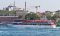 Protests in turkey ferry carrying people to ruling ak party akp rally for free to kazlicesme area on june istanbul meanwile taksim Royalty Free Stock Photos